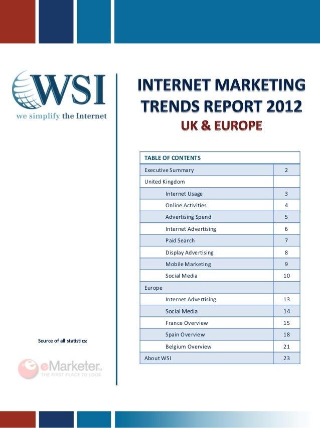Internet Marketing Trends report 2012 UK & Europe