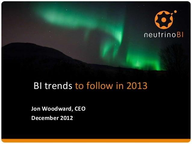 2013 BI Trends