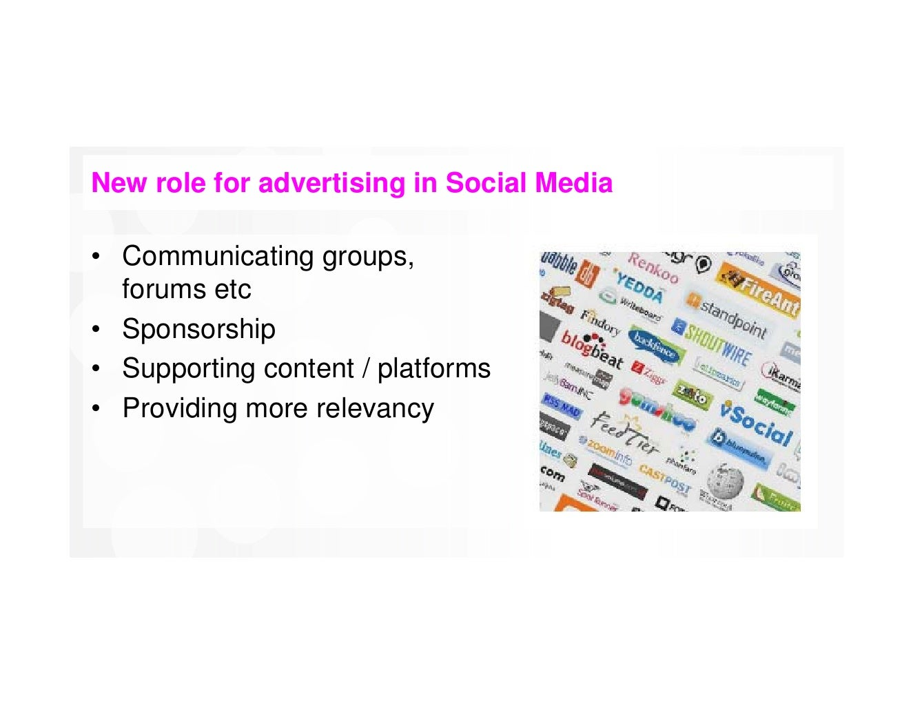 Role of Social Media Marketing in Business