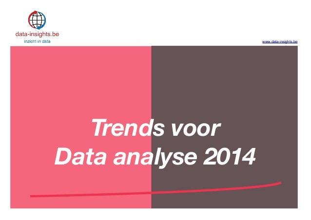 Trends voor data analyse 2014