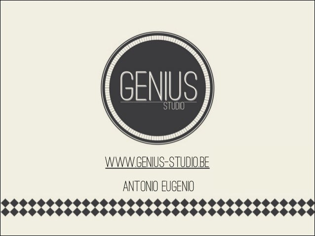 www.genius-studio.be antonio eugenio