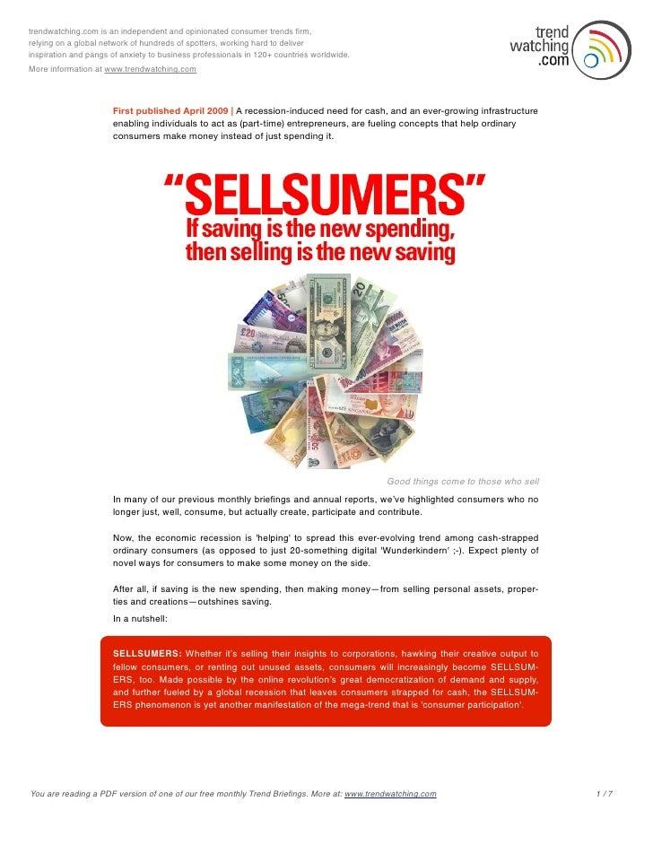 Trendwatching 2009 04 Sellsumers