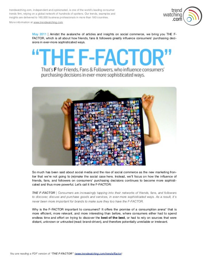 THE F-FACTOR Trend Briefing - May 2011