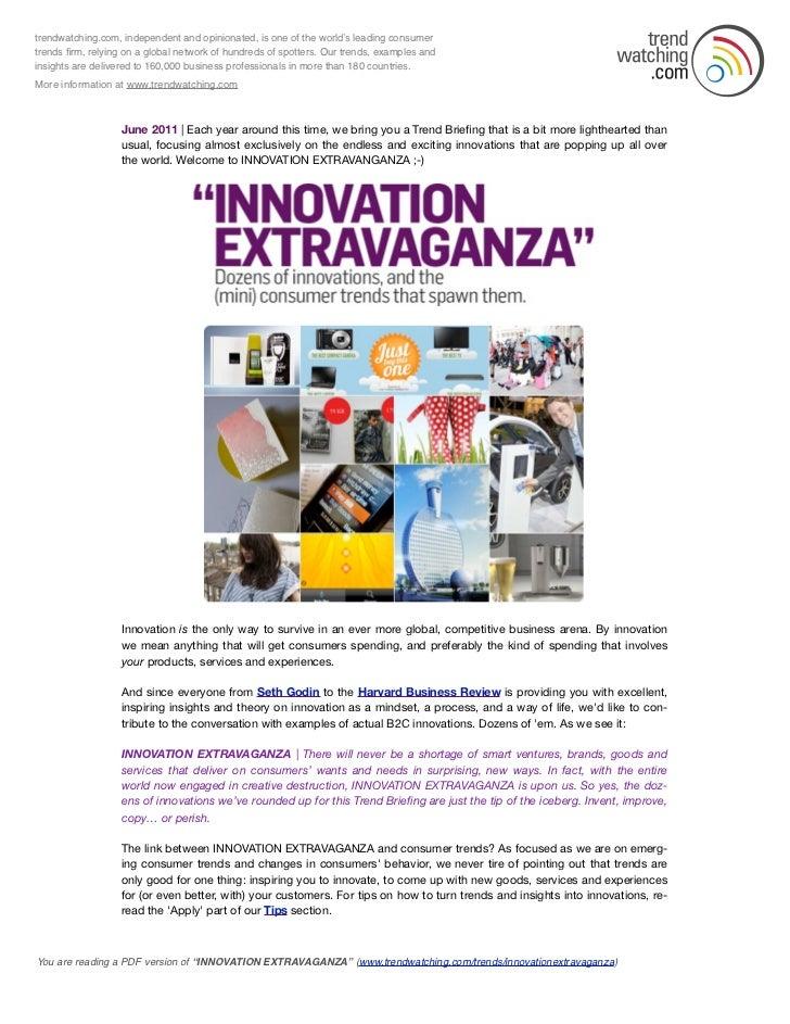 Trendwatching 2011 06 innovation extravaganza