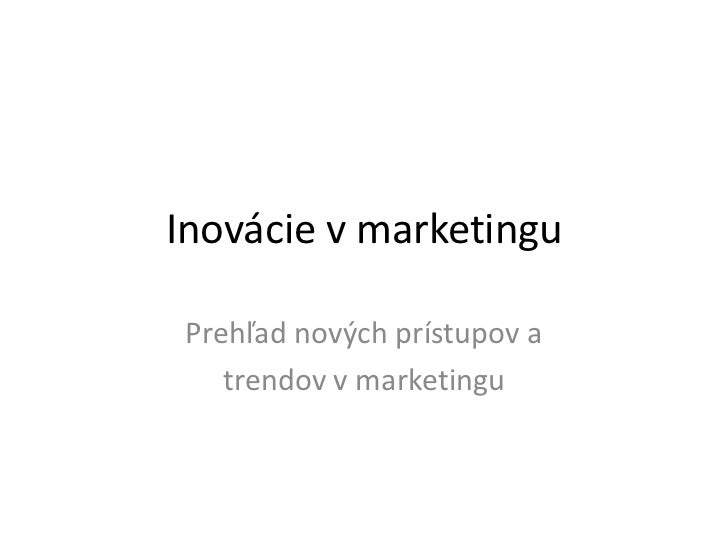 Trendy v marketingu 2012 - Mash up