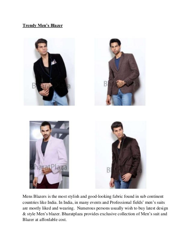 Trendy men's blazer