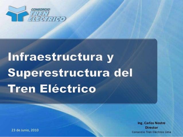 23 de Junio, 2010 Ing. Carlos Nostre Director Consorcio Tren Eléctrico Lima