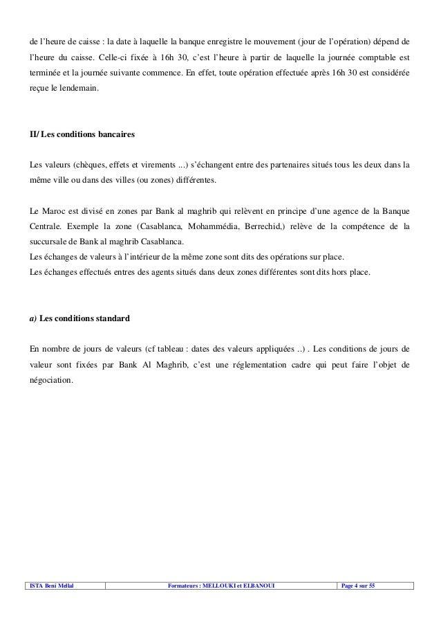 Tresorerie for Chambre de compensation bancaire