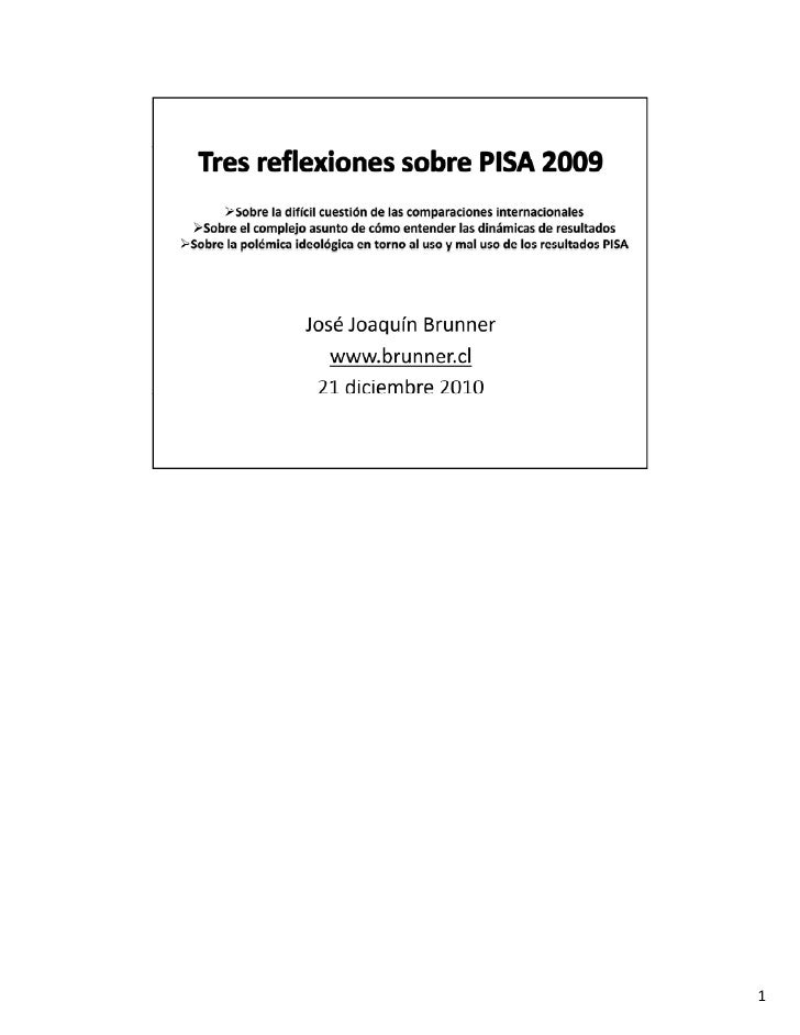 Tresreflexiones sobre PISA. (BRUNNER)