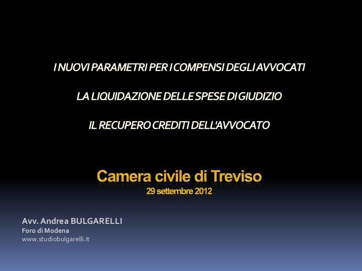 Avv. Andrea BULGARELLIForo di Modenawww.studiobulgarelli.it