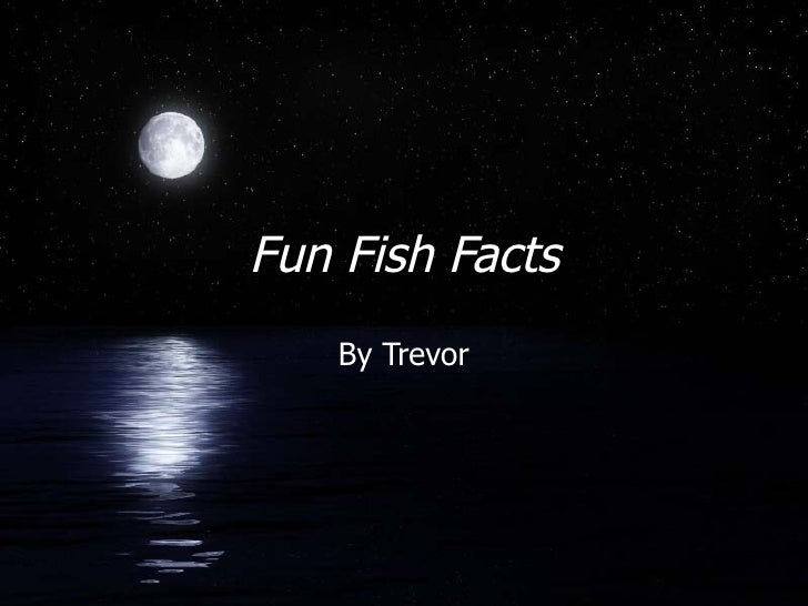 Fun Fish Facts By Trevor