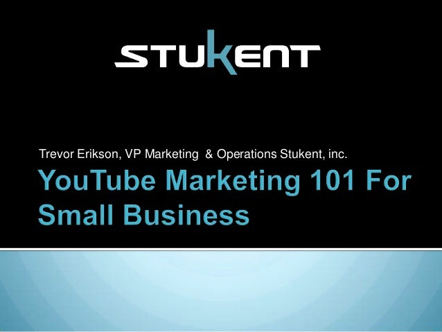 Trevor Erikson, VP Marketing & Operations Stukent, inc.