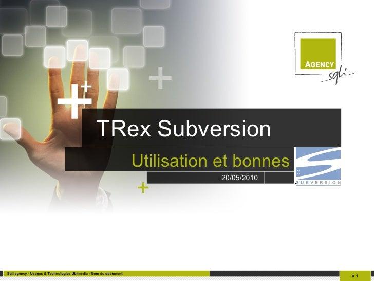TRex Subversion Utilisation et bonnes pratiques Logo client 20/05/2010   +