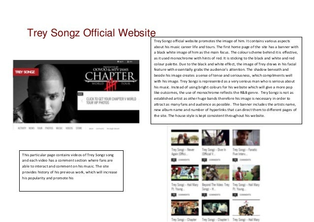 Trey Songz Official Website                                                             Trey Songz official website promot...