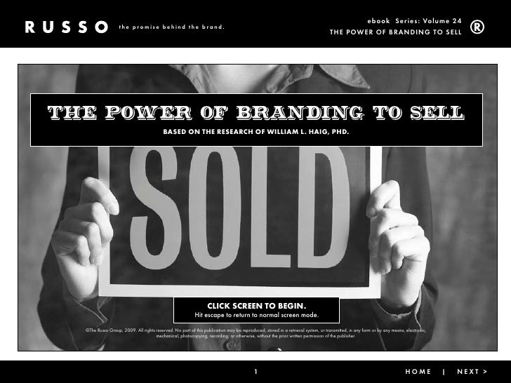 Branding To Sell