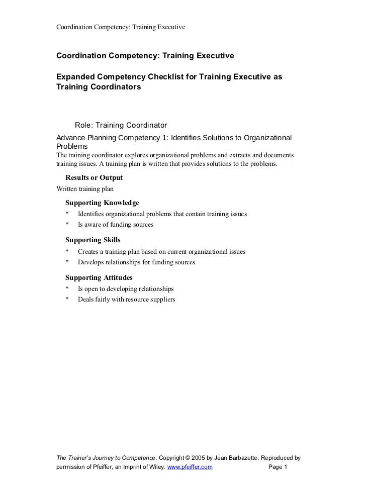 Trg Exe Coodinator Expanded Competency