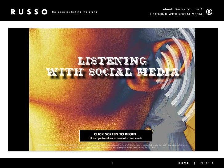 Listening With Social Media
