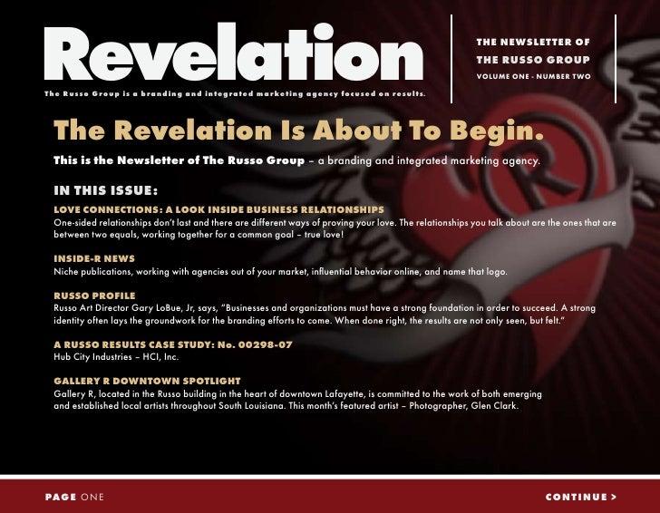 Russo Revelation Love - Vol 1.2