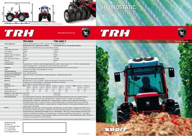 www.antoniocarraro.com HYDROSTATIC &REVERSIBLE 2265 3495 710 1595 1190 2205 1790* Diese Abmessungen wurden mit Reifen 250/...