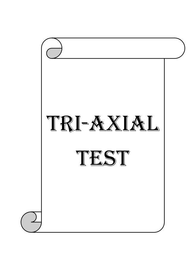 Tri-axial test