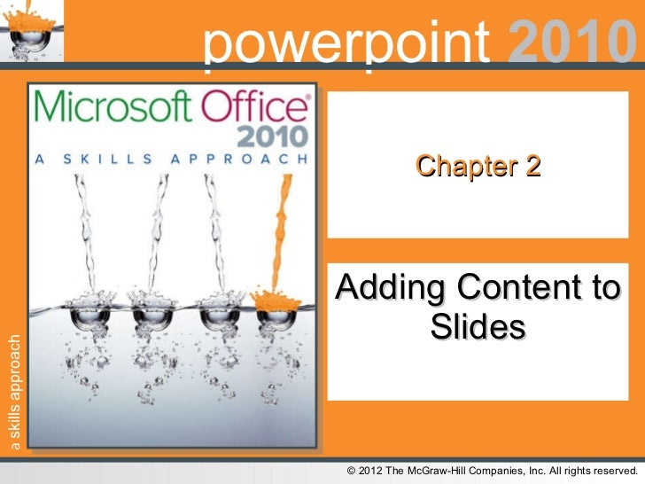 Chapter 2 Adding Content to Slides