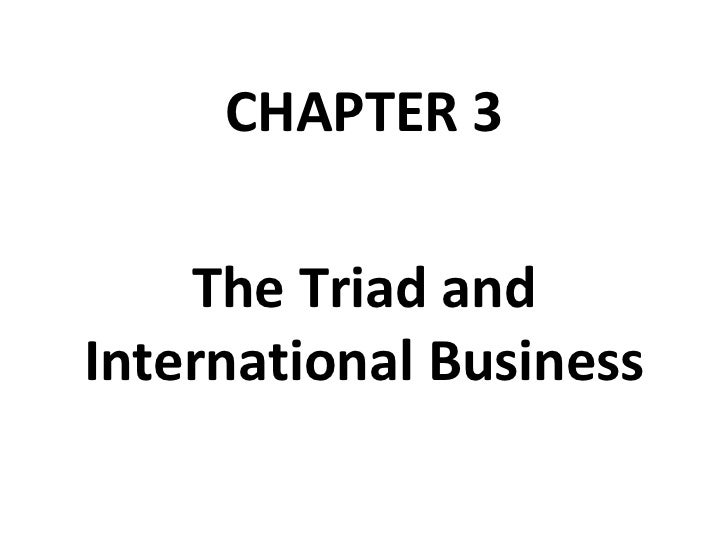 CHAPTER 3 The Triad and International Business