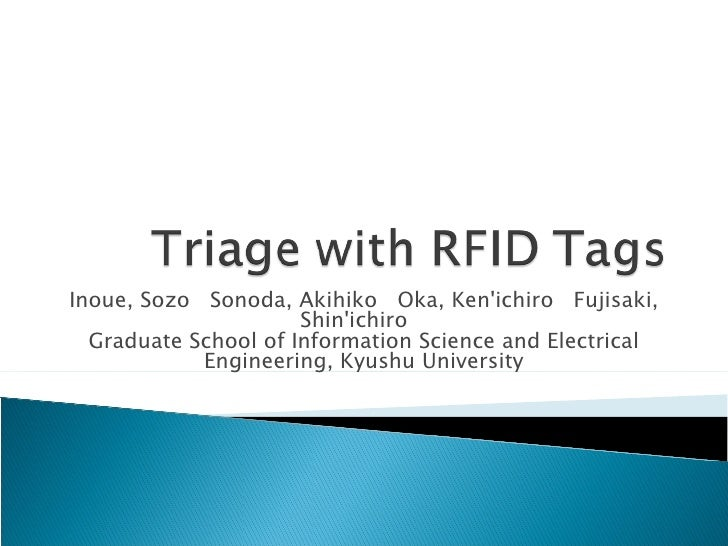 Triage With Rfid Tags