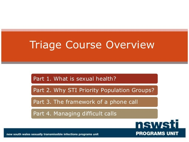 Triage Course Overview<br />