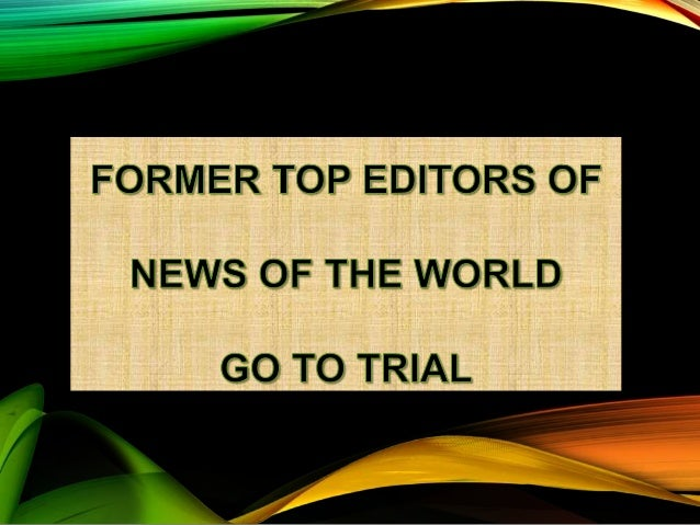 Trial of two former top editors of new