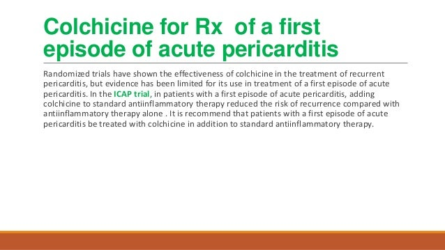 Colchicine For Pericarditis