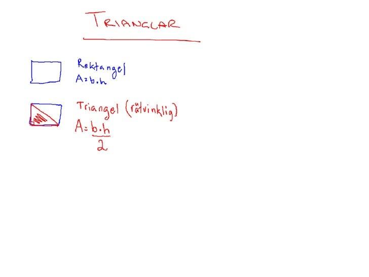 Trianglar och cirklar