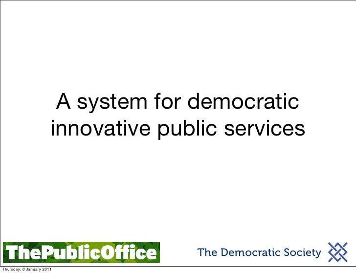 Democratic innovation