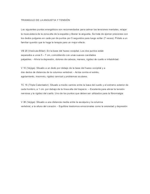 Triangulo de la angustia y tensión (Acupuntura)
