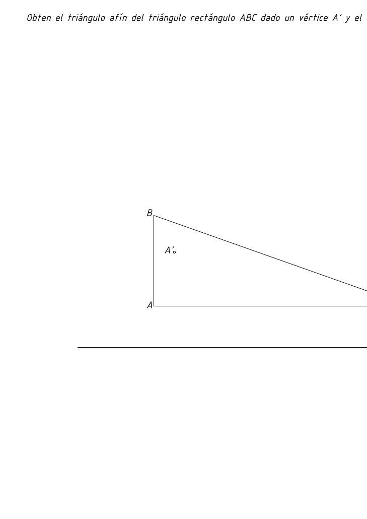 Triángulo afín de un triángulo rectángulo