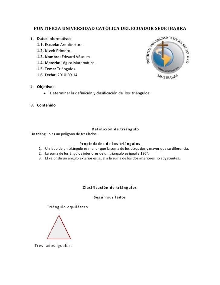 PUNTIFICIA UNIVERSIDAD CATÓLICA DEL ECUADOR SEDE IBARRA<br />406654020320Datos Informativos:<br />Escuela: Arquitectura.<b...