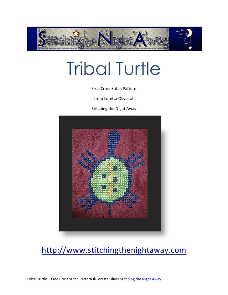 Tribal Turtle                                       Free Cross Stitch Pattern                                         from...