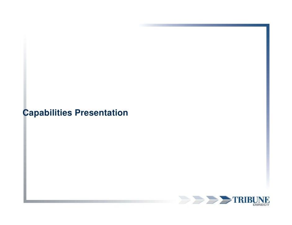 Capabilities Presentation