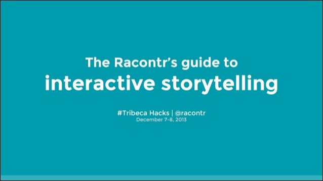 Tribeca Hacks Racontr keynote