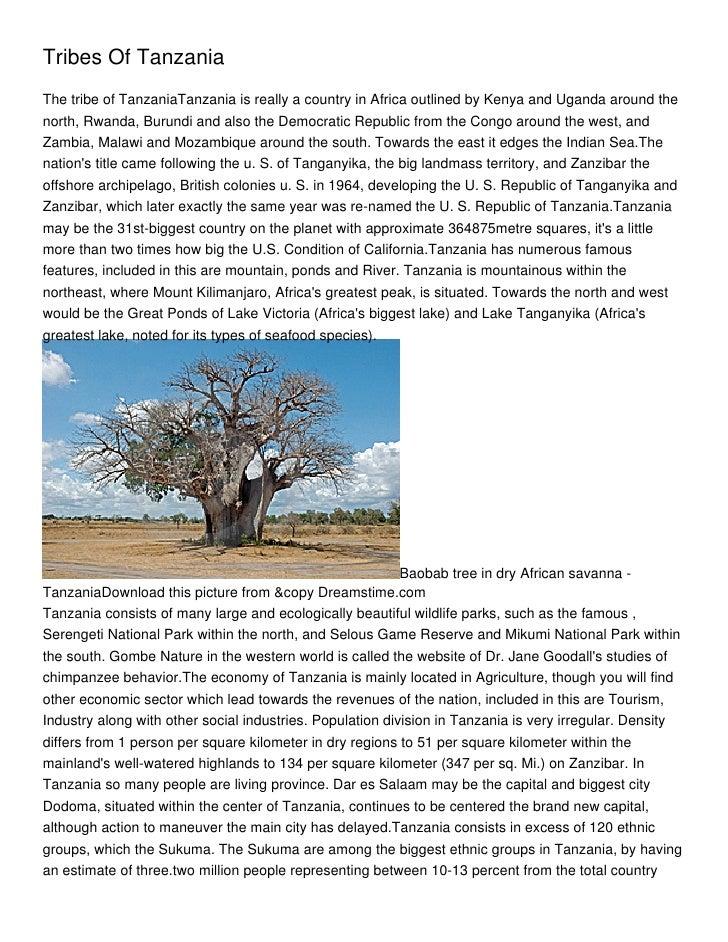 Tribes Of Tanzania_