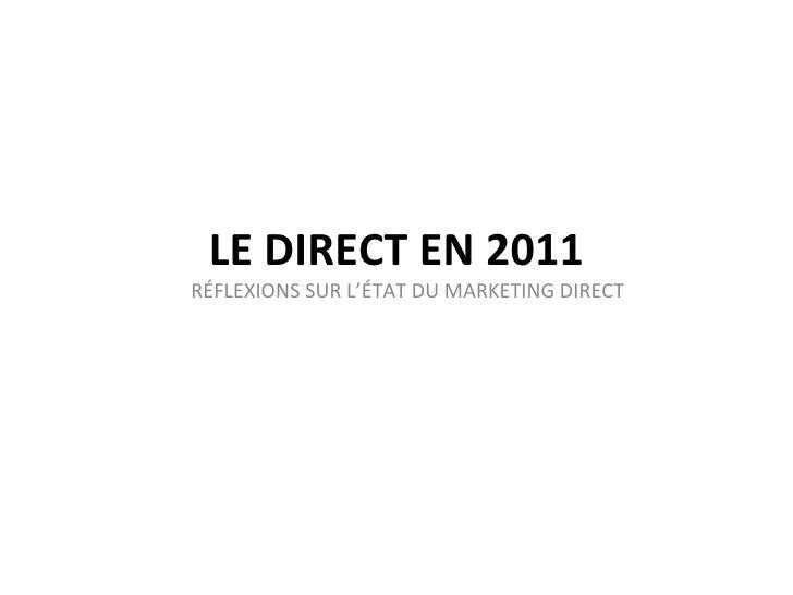 Tribu   Le DM en 2011