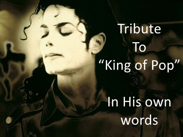 "Tribute  To  ""King of Pop"""