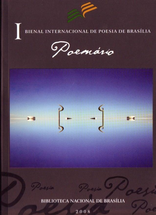 1 I BIENAL INTERNACIONAL DE POESIA DE BRASÍLIA