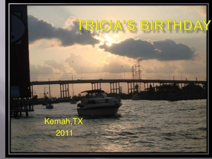 Tricia's birthday