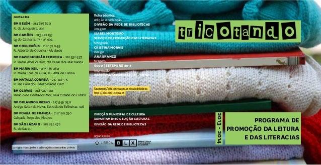 Tricotando__programa de promoção da leitura e das literacias (2013-2014)