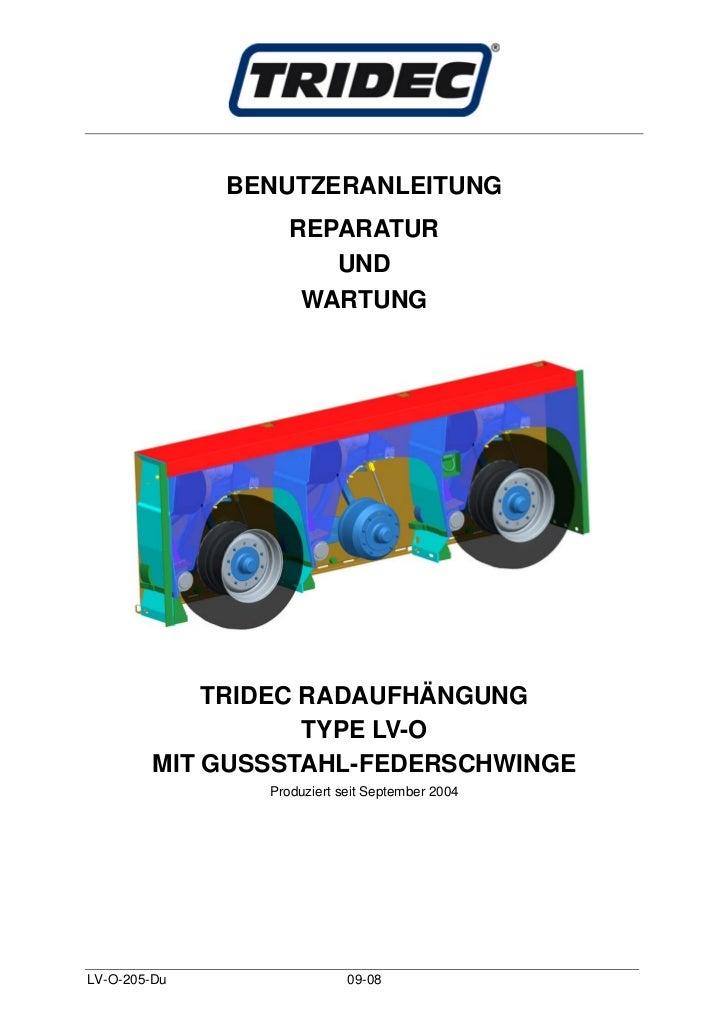 BENUTZERANLEITUNG                   REPARATUR                      UND                    WARTUNG             TRIDEC RADAU...