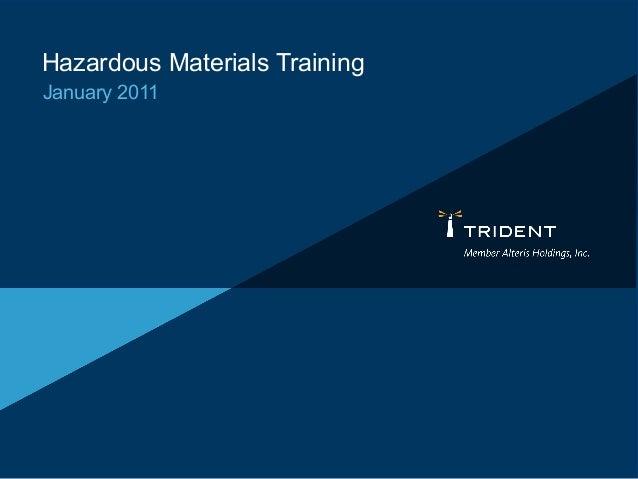Hazardous Materials Training January 2011