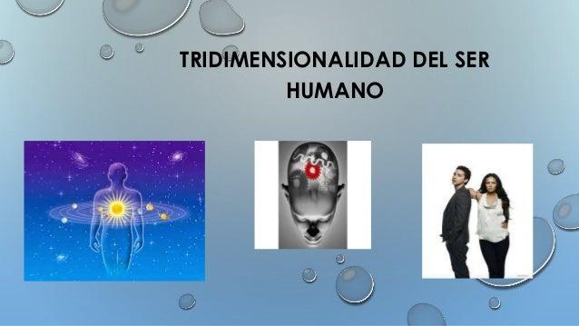 TRIDIMENSIONALIDAD DEL SER HUMANO