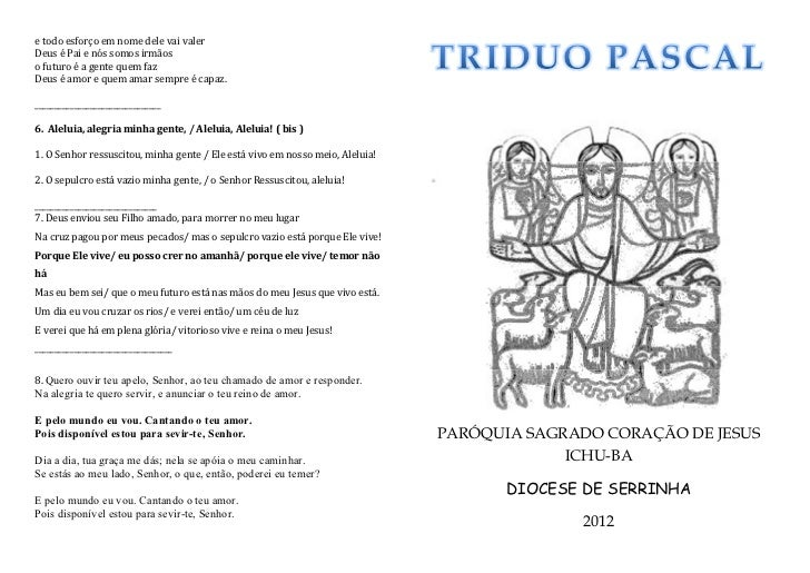 Tríduo Pascal - Livreto