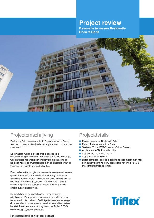 Triflex-projectreview residentie erica genk