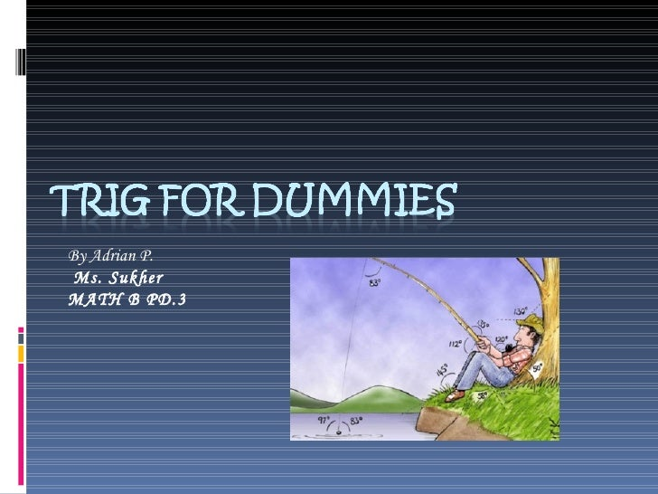 Trig For Dummies By Adrian P.